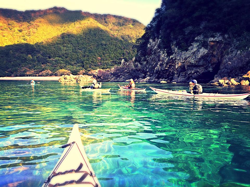 水は国内屈指の透明度だと思います。 元須賀利の浜