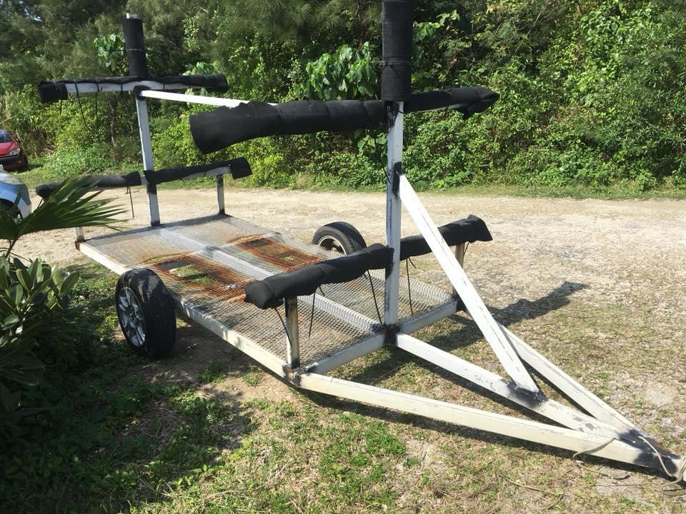 シーカヤック用トレーラー