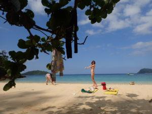 素晴らしいビーチ。イダの浜