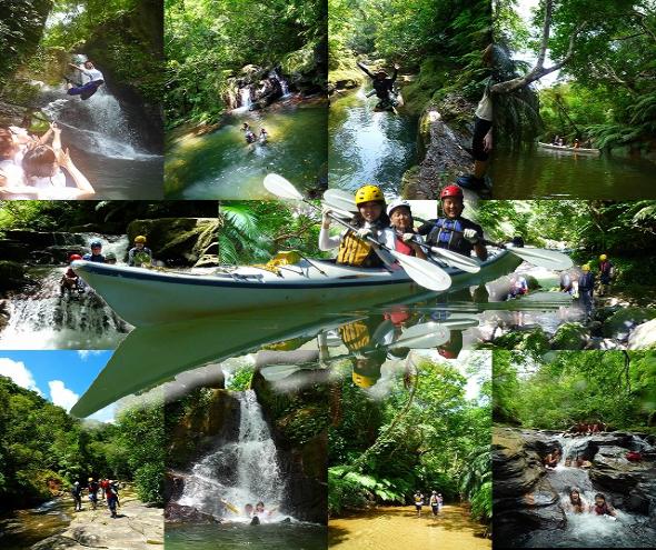 アダナデの滝は西表でも屈指の避暑遊び