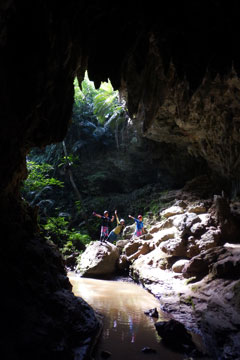 朝一番の西表島の洞窟~!!