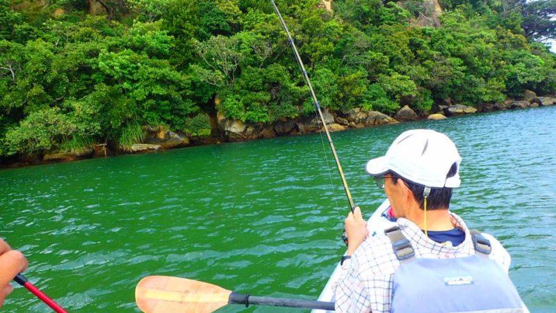 のんびり川釣り(西表島マングローブカヌー釣り)