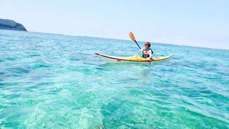 午後からシーカヤックツアー@西表島のいい色の海