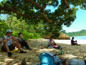 イダの浜でお昼ご飯